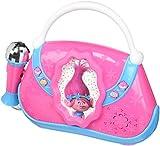 ekids TR-115 Trolls Karaoke Anlage für Kinder mit Mikrofonen Maschine rosa/blau/weiß