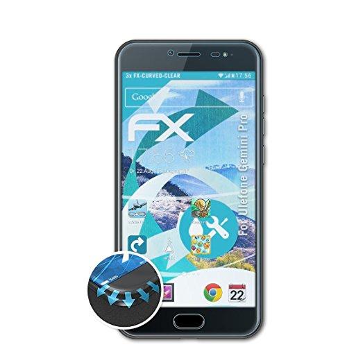 Preisvergleich Produktbild atFoliX Ulefone Gemini Pro Folie - 3 x FX-Curved-Clear flexible Schutzfolie - vollflächiger Schutz bis zum Rand