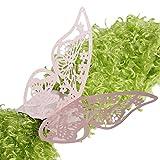 Dabixx 50 Schmetterling Serviettenring Serviettenhalter Hochzeitsfest Bankett Dinner Decor-Pink