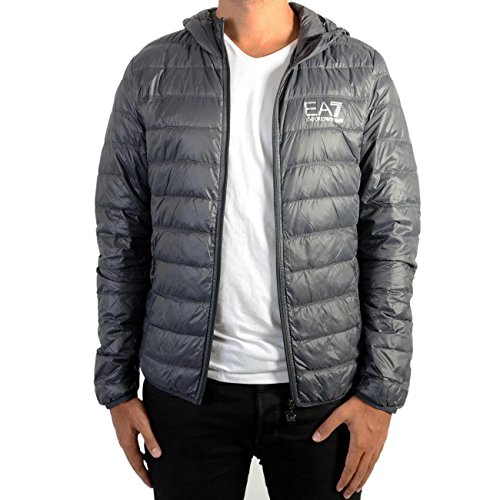 EA7 Train Core ID Down Light Hoodie Jacket (T-shirt Light Edward)