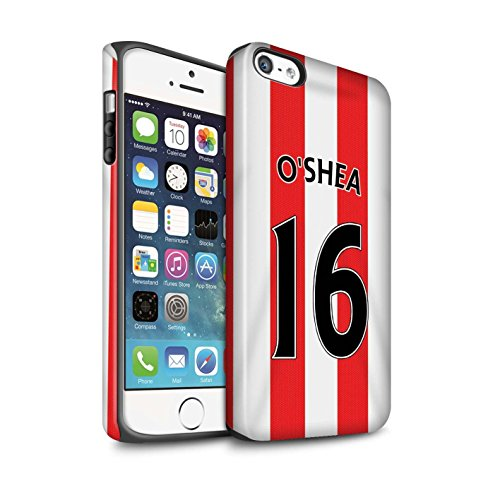 Offiziell Sunderland AFC Hülle / Matte Harten Stoßfest Case für Apple iPhone SE / Pack 24pcs Muster / SAFC Trikot Home 15/16 Kollektion O'Shea