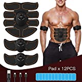 FYLINA Muskelstimulation Elektrostimulation EMS Trainingsgerät Professionelle USB Muskelstimulator Elektrische Bauchmuskeltrainer Elektrostimulatoren für Damen Herren(8 Pads)