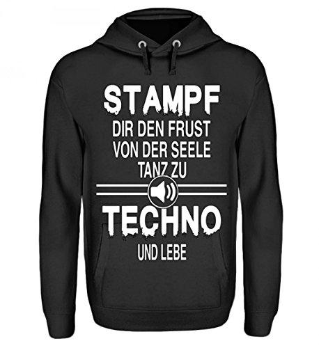 Hochwertiger Unisex Hoodie - Limitierte Edition - Stampf zu Techno
