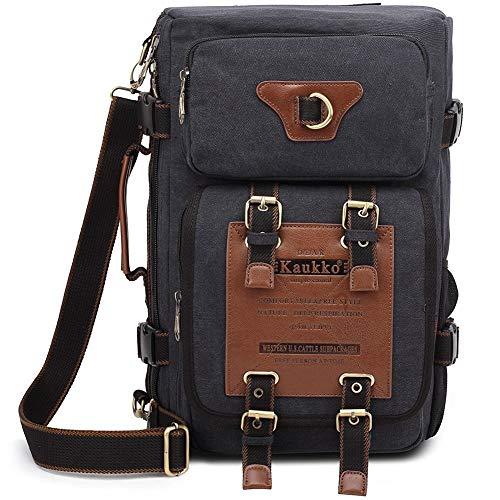 S-ZONE Vintage Rucks?cke Herren Military Canvas Rucksack Fit to 15.6 Inches Laptoptasche f¨¹r Camping Wandern