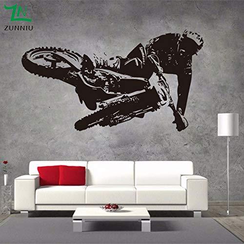 woyaofal Motorrad Racing Wandaufkleber Vinyl Wohnzimmer Schlafzimmer Hintergrund Dekorative Wand Jungen Schlafzimmer Kunst Aufkleber 110x160 cm