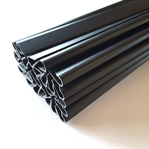 Klemmschienen für Sichtschutzstreifen - 25er Pack - Für Endlosdrucke und Motivdrucke von PerfectHD
