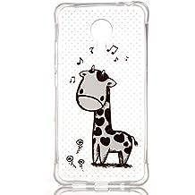 Voguecase® Para Meizu MX5,TPU Funda de Silicona de Gel Carcasa Tapa Case Cover (Hollow-música ciervo) + Gratis aguja de la pantalla stylus universales