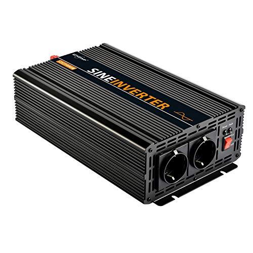 EnRise Convertisseur Pur Sinus 12V 220V 230V Onduleur 1000W Pic 2000W Transformateur de Tension