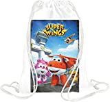 Super Wings Kordelzugbeutel Gym Travel Drawstring Sack Printed Bags By Slick Stuff