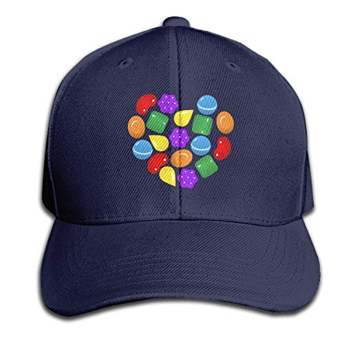 Hip Hop Baseball Cap,Candy Crush Saga Adjustable Snapbacks Plain Sun Hats Black