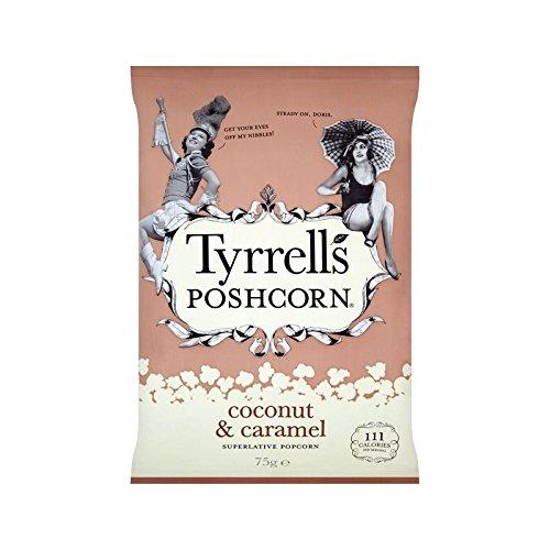 Tyrrells Coco Et Caramel Poshcorn 75G - Paquet de 6