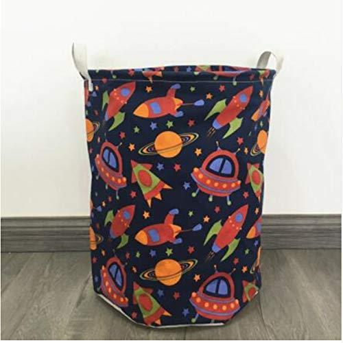 myvovo)Neue Cartoon Falten Wasserdichte Wäschekorb Kleidung Aufbewahrungskörbe Dekoration Streifen Barrel Kinder Spielzeug veranstalter Eimer35 * 40 cm