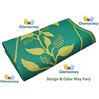 GlamocracyTM Plastic Mat/Chatai (6 * 4 FT) Single Bed size ideal for Home, Living Room, Garden, Outside, Bedroom Floor...