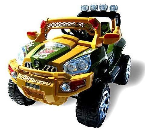 Actionbikes Motors Elektro Kinderauto Jeep 801 mit 2 x 25 Watt Motor Elektro Kinderauto Kinderfahrzeug in Mehreren Farben (Sahara)