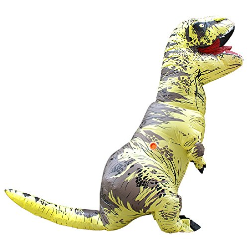 Yoweshop t-rex dinosauro gonfiabile costume – natale festa di halloween cosplay travestimento adulto