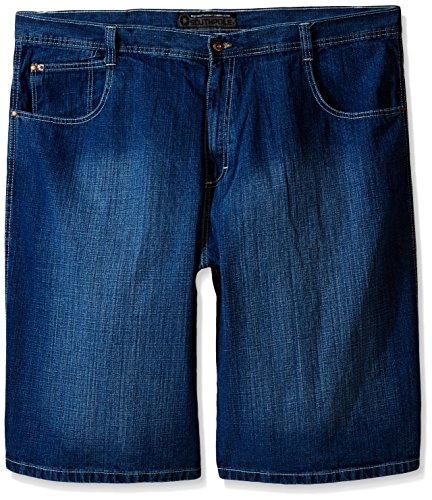 Southpole Men's Big-Tall 4180 Denim Short in Relaxed Fit, Medium Sand Blue, 46 -