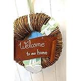 Türkranz mit Rostschild Welcome to our home Shabby Landhausstil von Landgefühl♡