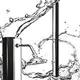 Solardusche Gartendusche Pool Dusche Schwarz-silberfarben Camping 35 Liter