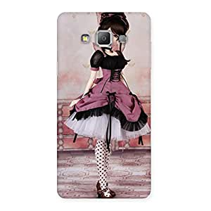 Premium Cute Dancing Girl Multicolor Back Case Cover for Galaxy A7