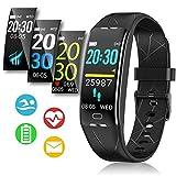 Fitness Armband, Sportuhren Herren Damen, Fitness Tracker mit Stoppuhr Smartwatch Wasserdicht IP68...
