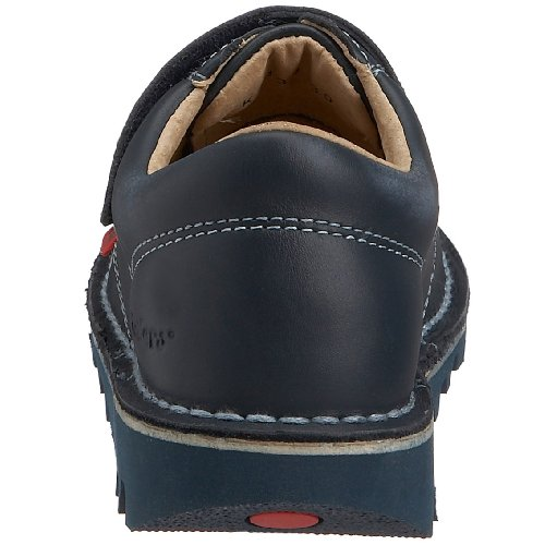 Kickers Kick Lo Velcro Toddlers i Core Nero Pelle Shoes Blu (Navy/Sky)