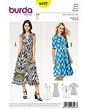 Burda 6497 Schnittmuster Kleid mit V-Ausschnitt (Damen, Gr. 34-46) – Level 2 leicht