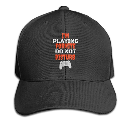 I'm Playing FORNITE DO Not Disturb Pure Color Peaked Hats Trucker Hat Unisex Black