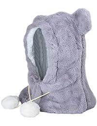 Sombrero de Invierno para bebés, Bufanda de Punto Earflap Hood Bufandas Skull Caps, Boys Girls Warm Hat Clothes Set, tamaño Ajustable para bebé.