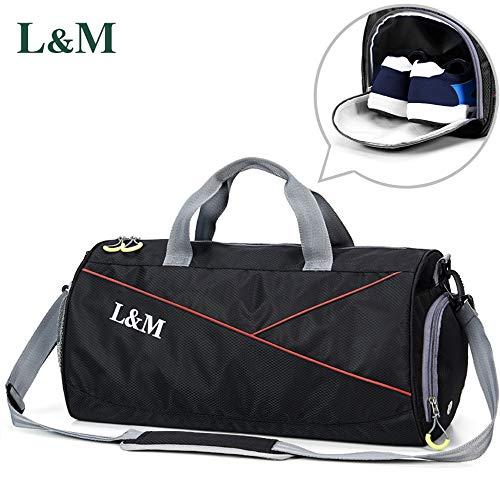 9f7679a9a0 Sports Gym Bag with Dry Wet Pocket, Sports Bag Duffel Bag Gym Holdall Bag  for