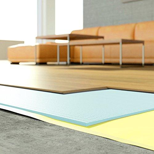 [DQ-PP] 30m2 Trittschalldämmung Dämmung Boden für Laminat Parkett 3mm XPS blau Parkett- und Laminatunterlage Wärmedämmung für alle schwimmend verlegten Holz- und Laminatböden.