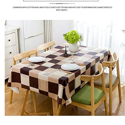 LSJT PVC Öl-Beweis Wasserdichte Tischdecke Tischdecke Couchtisch Abdeckung Tuch Dicke hitzebeständig Tischset Tischdecke Rechteckige Quadratische Couchtisch Matte Milch Kaffee Schokolade Farbe - Schokolade Tischdecke Quadratische