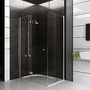 walk in dusche ca 120x80x200 cm eckeinstieg duschkabine klares sicherheitsglas duschabtrennung. Black Bedroom Furniture Sets. Home Design Ideas