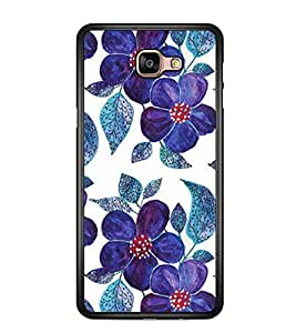 Printvisa Blue Floral Pattern Back Case Cover for Samsung Galaxy A9 (2016)::Samsung Galaxy A9 (2016) Duos with dual-SIM card slots