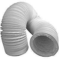 Daniplus Tuyau d'évacuation d'air en PVC flexible, diamètre 100/102 mm, longueur 5 m, pour climatisation, sèche-linge…