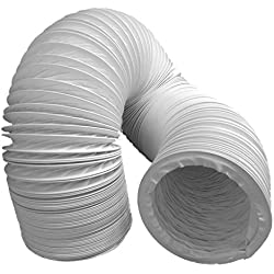 Tubo de salida de aire (PVC, diseño flexible, 100/102 mm de diámetro, campanas extractoras)