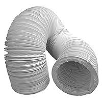 Daniplus©, Tubo di scarico, Ø 100mm, 3m, ad esempio per impianti di climatizzazione e asciugatrice.Lunghezza: 3 m.Diametro 100 mm.Materiale: PVC, flessibile, in acciaio rivestito, spirale, pieghevole.Il tubo di scarico può essere utilizzato...