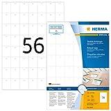 Herma 8044 Warenanhänger reißfest (30 x 37 mm auf DIN A4 Bogen, aus Papier-Folie-Papier-Verbund, perforiert, nicht klebend) 5.600 Stück, weiß, PC-bedruckbar