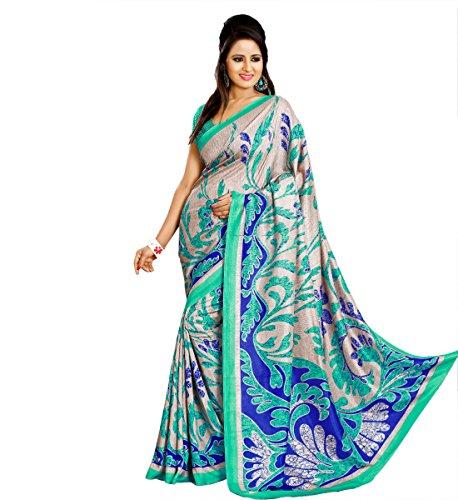 Miraan Printed Bhagalpuri Art Silk Saree for Women