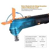 Multifunktionswerkzeug-Tacklife PMT01B Oszillierendes Werkzeug,6 Geschwindigkeiten und Schnellwechselfutter,12V, 2.0Ah Akku, LED-Licht und Koffer,zum Schleifen,Schneiden und Polieren,mit 24 Zubehör für Multifunktionswerkzeug-Tacklife PMT01B Oszillierendes Werkzeug,6 Geschwindigkeiten und Schnellwechselfutter,12V, 2.0Ah Akku, LED-Licht und Koffer,zum Schleifen,Schneiden und Polieren,mit 24 Zubehör