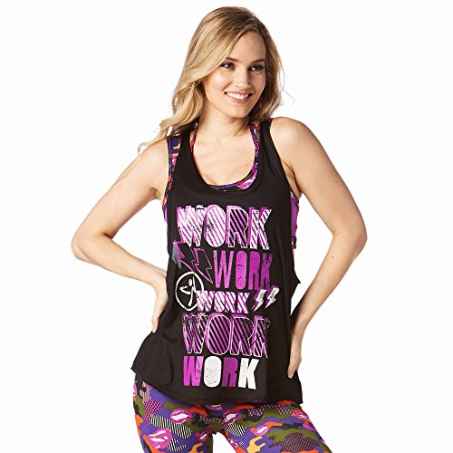 Zumba Fitness® Work Loose Reservorio Mujer Tops, Todo el año, Mujer, Color Bold Black, tamaño Extra-Small