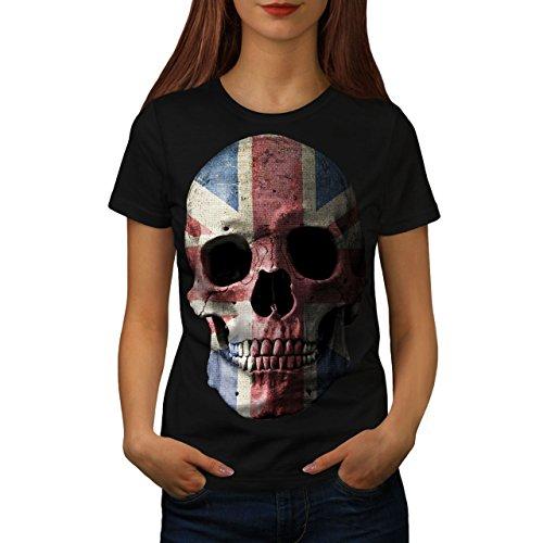 T Britische Flagge Shirt (wellcoda Britisch Flagge Schädel Frau S T-Shirt)
