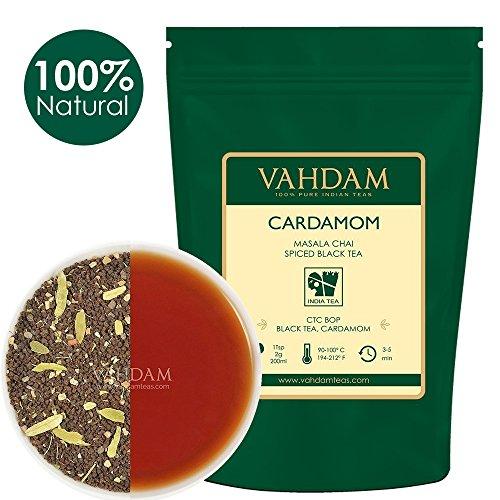 Indische Tee-set (Kardamom Masala Chai Tee (100 Tassen) - Premium CTC Assam Mischung mit frischem indischem Kardamom (Elaichi) - Indiens Original Masala Tee Rezept, Gemischt & aus Indien geliefert, 100g, 2er Set)