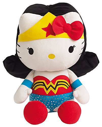 Jemini – Hello Kitty Plush 022869 Wonder Woman Dc Comics Super Heroes – 40 cm