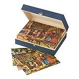 Würfelpuzzle aus Holz mit Märchen - Motiven der Gebrüder Grimm