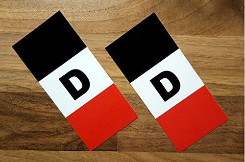 2 Stück Nummernschild Kennzeichen Etiketten / Aufkleber 'Deutsches Reich' für EU-Feld