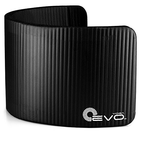 Yoga EVO Thick Knee Pad 15mm   Cushion Pressure Points to Avoid Pain During Fitness Exercise (Schwarz) (Knee Evo Pad)