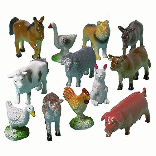 NEU Tierfiguren Bauernhoftiere, 12 Stk.