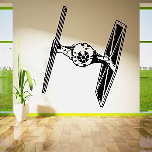 zqyjhkou Tie Fighter Wall Art Vinile Camera Sticker Smontabile della Decalcomania Movie Stencil Poster da Parete Astronave Murale Camera dei Bambini Decor 57X70 cm