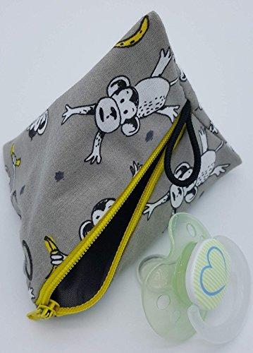 Schnullertasche XL für 2-4 Nuckel Affen