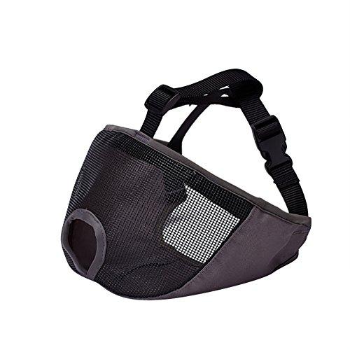 Bk-netze (iBaste Hund Maulkörbe Einstellbare Maske Mit Netz Breathable Hunde Mundschutz Anti Kauen Beißen Maske-BK-XL)